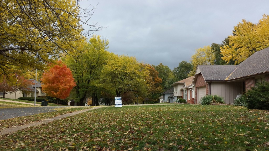 home for sale in autumn