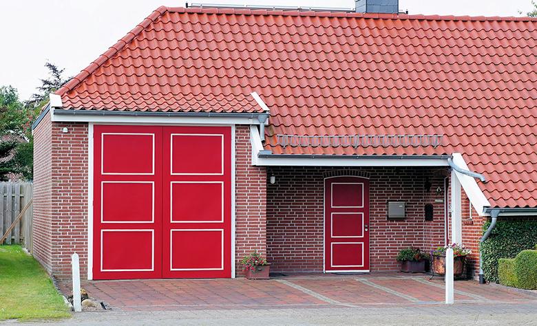 modern red door design